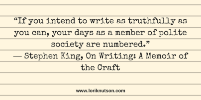 Stephen King Polite Quote