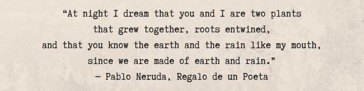 Neruda Rain Quote