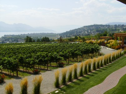 BC winery overlooking Okanagan Lake