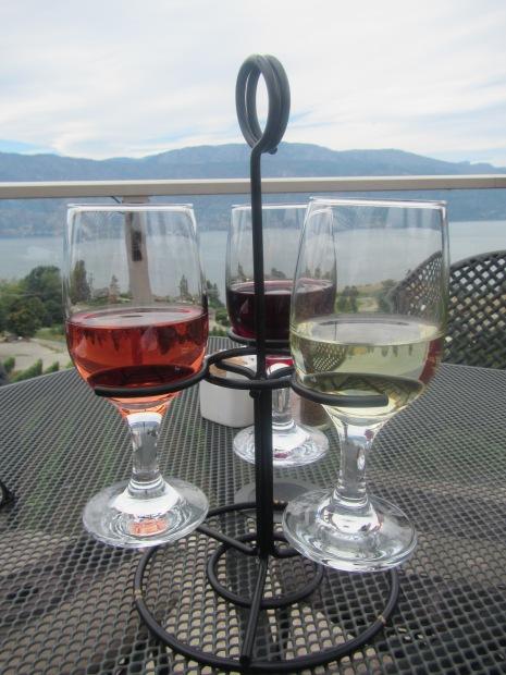 A tasty trio overlooking Okanagan Lake, BC