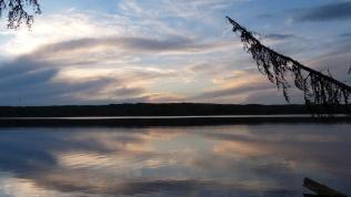 Sunset, Anglin Lake, Saskatchewan. Photo credit Dale Clark