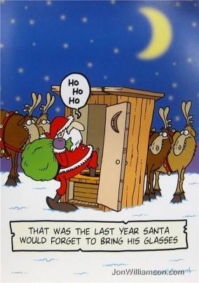 Santa Forgot Glasses