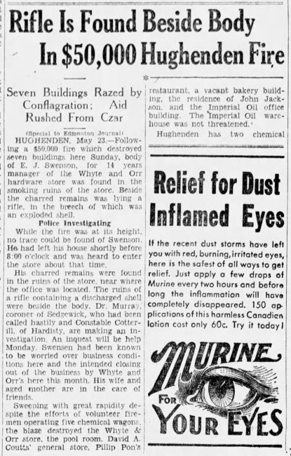Edmonton Journal 1932 Fire